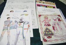 Vtg Paper Dolls Magazine Pages Lot Vanderpool Ventura Prince Morris + More!