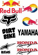 Motorx stickers moto dirt bike decals tool box casque autocollants full sheet