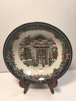 Royal Staffordshire Christmas Bows Bells Wreaths Garland Vegetable Serving Bowl