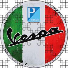 #437 Aged Vespa Piaggio Italian Flag 9cm! AUFKLEBER STICKER AUTOCOLLANT ADHESIVE