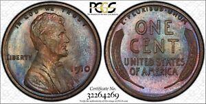 1910 Lincoln Wheat Cent Matte Proof PR66BN PCGS 🌈🌈