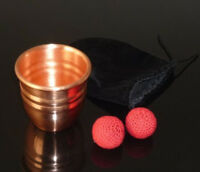 Copper Chop Cup (with Magnetic) - Magic Tricks,brass Cup,Close Up Magic,Gimmick
