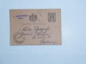 Ganzsache Postkarte/CartaPostala Rumänien 1894(?): von Buzeu nach Bucuresti