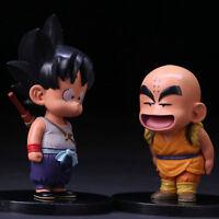 2pcs Dragon Ball Z GOKU Son Gokou & Krillin Set Figure GBZ Anime Collection New