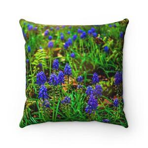 Blue Fields - Spun Polyester Square Pillow