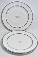 "NEW! kate spade Dinner Plates Nag's Head Navy™ Set of 4 11""(27.9 cm) Navy White"
