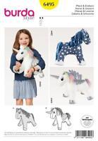 BURDA SEWING PATTERN Stuffed Animal Horse HORSE & UNICORN 6495