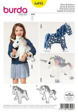 BURDA SEWING PATTERN Stuffed Animal Horse HORSE & UNICORN 6495