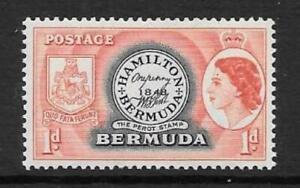 BERMUDA SG136 1953 1d BLACK & RED  MNH