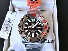 Seiko 5 Automatic Monster Men SNZF47J1 Made in Japan Discontinued 100m Rare New