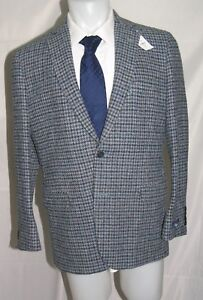 Brooks Brothers 1818 Fitzgerald Harris Tweed Blue Two Button Blazer 42R NWT