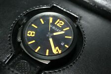 U Boat Flightdeck ABO 50 Steel Case 50mm Automatic Orange Hands Wristwatch!
