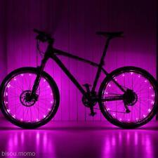 20 LED Bike Bicycle MTB Cycling Wheel Tire Tyre Spoke Reflector Strip Light Pink