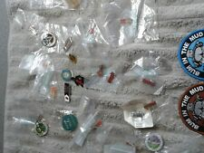 GREAT COLLECTION OF MOTORCYCLE PIN BADGES, RALLIES,  BRAND NEW AND USED