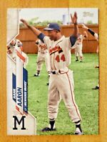 2020 Topps Series 2 SSP Photo Image Variation Hank Aaron Henry #482 SP 116