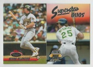 Mark McGwire 2021 TOPPS STADIUM CLUB SUPERSTAR DUOS + GREATS INSERT LOT A's