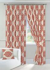 Rideaux et cantonnières rouge moderne en polyester pour la maison
