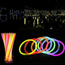 100Pcs Mixed Colors Glow Stick Bracelets Neon Light Flashing Wands Party Favors