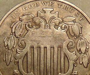 1868 Shield Nickel - Scarce FS-111 DDO Variety - Very Nice Looking Coin
