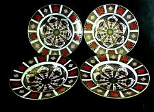 Royal Crown Derby Old Imari 1128 Four Rimmed Soup Bowls 2nd Quality 8.5 cm Each