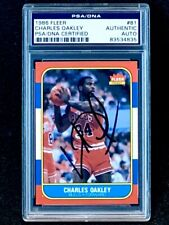1986 Fleer #81 Charles Oakley Rookie Autograph PSA/DNA Certified