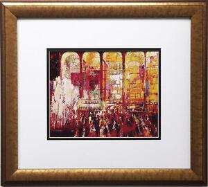 "LeRoy Neiman ""Metropolitan Opera Opening"" Newly CUSTOM FRAMED Art Print NEW YORK"