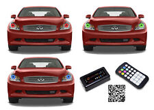 for Infiniti G35 07-09 RGB Multi Color Bluetooth LED Halo kit for Headlights