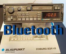 Vintage Car Radio Blaupunkt Coburg SQR 49 Bluetooth hands-free BMW Audi Porsche