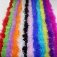 2 Meter Turkey Feather Strip Fluffy Boa Wedding Women Party Decoration New