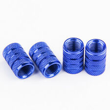 4PCS Blue Anodized Aluminum Tire/Wheel Air Pressure Valve Stems Caps