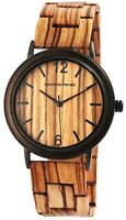 Leonardo Verrelli Damenuhr Braun Holz Analog Quarz Armbanduhr X1800190002