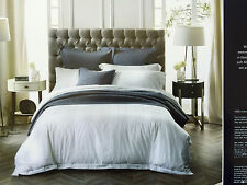 Sheridan Holloway 400TC Cotton Queen Size Bed Quilt Cover Set in Snow RRP $370