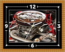 V8 Drag Engine Wall Clock Gift Present Christmas Birthday (Can Be Personalised)