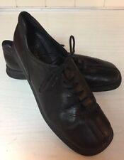 ECCO 351 Bicycle Toe Lace Up Black Leather Dress Casual Oxfords Women's US 7.5