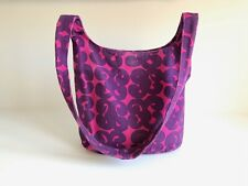 MARIMEKKO Canvas Shoulder Bag, Pink and purple Finnish vintage Cross body bag