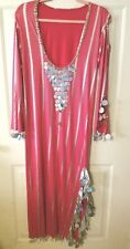 Belly Dance Hot Pink Silver Folkloric Saidi Baladi Womens Dress One Size
