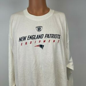 Reebok New England Patriots NFL Equipment Long Sleeve T Shirt Football White XL