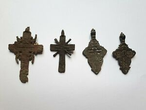 4 Post Medieval orthodox crosses.