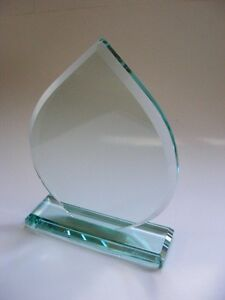 Corporate Gift  Prize Personalised JADE CRYSTAL Glass AWARD