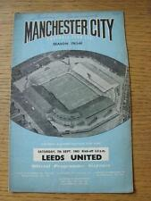 07/09/1963 Manchester City v Leeds United  (Creased, Marked, Writing On Front, S