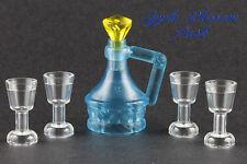 NEW Lego Minifig Trans BLUE JUG w/4 Cups - Pirate Friends Food Wine Flask Bottle