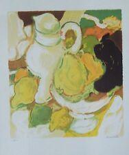 Denise Bourdouxhe lithographie Nature morte au pichet blanc  p 627