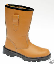 GRAFTERS RIGGER STEEL TOE CAP BOOTS LEATHER TAN SIZE 13