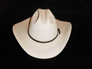 Rod's Western Palace Cowboy Western Hat 6X Beaver Beige Sz: 7 1/8