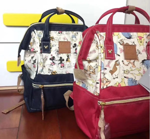 Japan AnelloDisney Mickey Vigny joint bag Girls Womens Backpack Book Bag