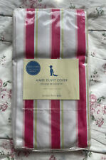 "Pottery Barn Kids Aimee Duvet Cover Toddler Pink, Green Stripe 43"" X 59"""