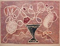 Rolf Diener (1906-1988) Farbholzschnitt, Stillleben mit Vase, Nachlass-Stempel