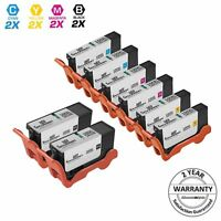 8PK Compatible BLACK COLOR Ink Cartridge for Lexmark 100XL S301 S815 S816 Pro206