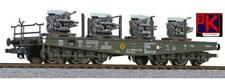 More details for liliput l235742 12 wheel german flat wagon with 4 engine loads db epoche iv h0