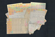 10x old German WW2 1941 Disability Insurance Card + Revenues - FREE POSTAGE